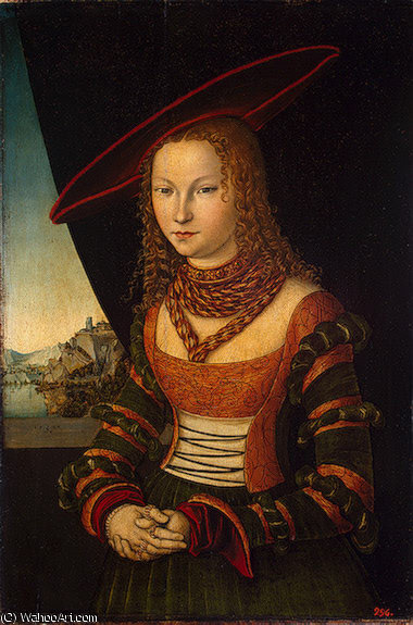 ritratto di una woman , Eremit, 1526 di Lucas Cranach The Elder (1472-1553, Germany)