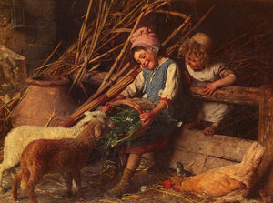 Gaetano Chierici - Feeding the Lambs