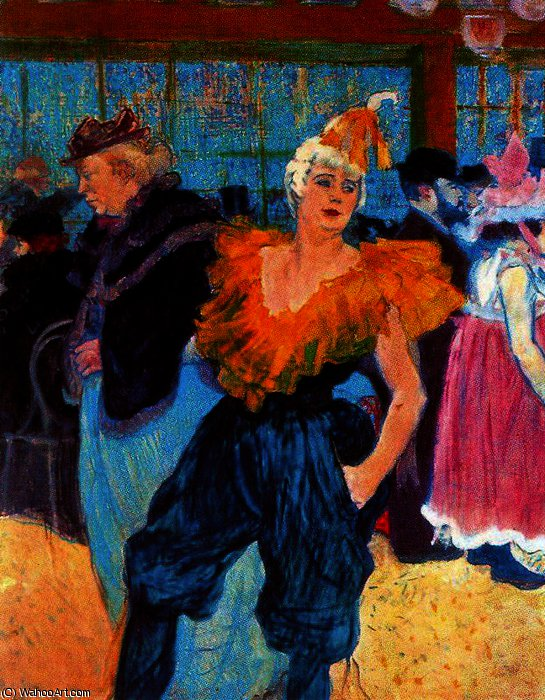 Al Moulin Rouge, il Clown cinese, Cha-U-Kno di Henri De Toulouse Lautrec (1864-1901, France)