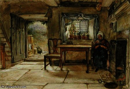 Cottage interno di Charles West Cope (1811-1890, United Kingdom)