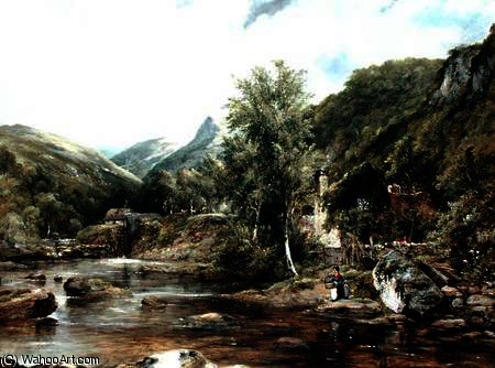 Pandy Mill, Bettys-y-Coed di Frederick Waters (William) Watts (1800-1870, United Kingdom)