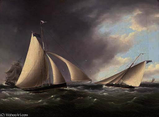 Cutters corsa nel canale le sette sorelle di Thomas Buttersworth (1768-1842, United Kingdom)