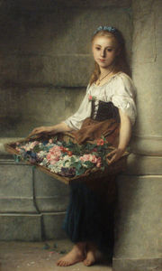 Adolphe Jourdan - Il flowerseller