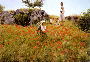 Viggo Pedersen - Picking papaveri, sora