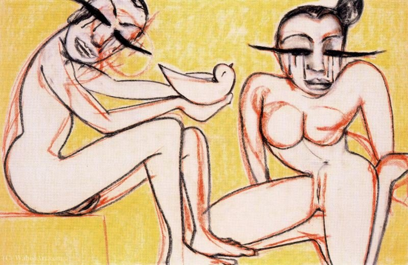 Untitled (672) di Francesco Clemente