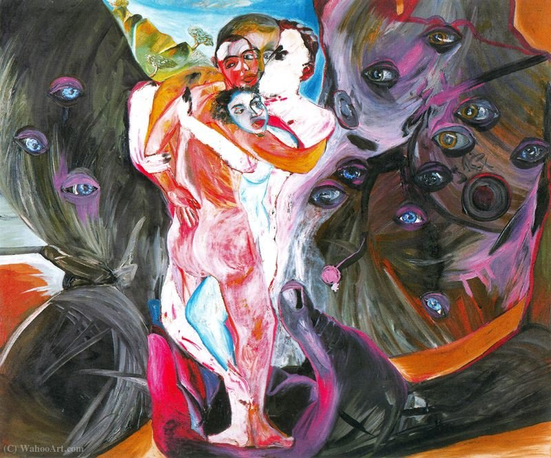 Untitled (523) di Francesco Clemente