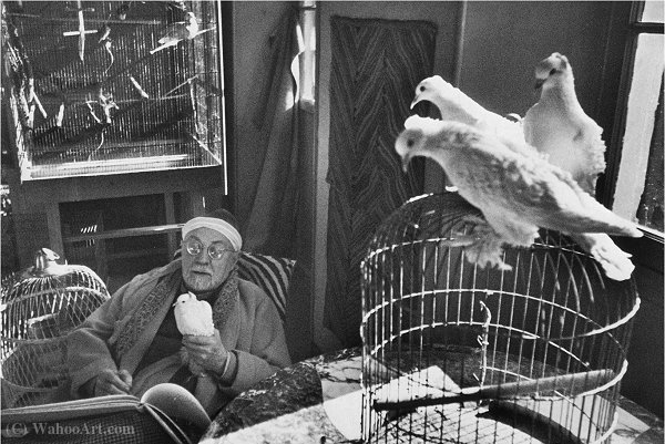 Matisse 1944 di Henri Cartier-Bresson (1908-2004, France)