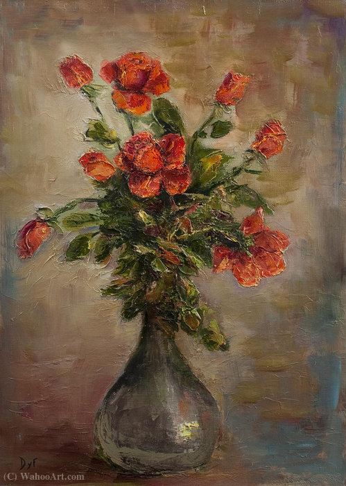Rose rosse di Marcel Dyf (1899-1985, France)