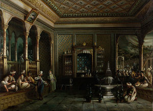 Thomas Allom - Una casa di caffè in Tophane
