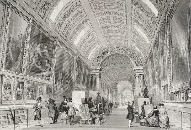 Grande Galerie del Louvre di Thomas Allom (1804-1872, United Kingdom)