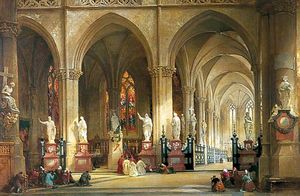 Thomas Allom - La chiesa di St Jacques, Anver..