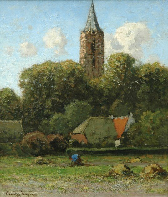 Veduta della chiesa a Soest di Cornelis Kuypers (1864-1932, Netherlands)