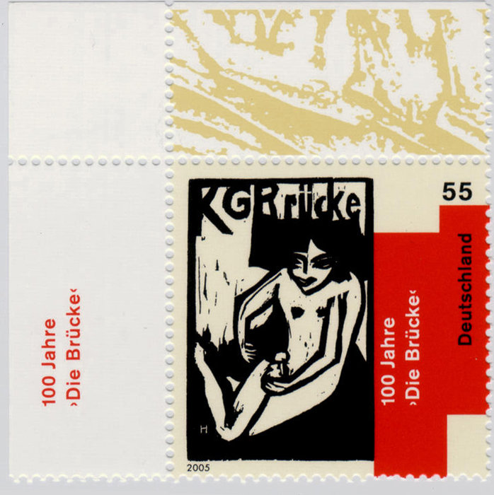 Briefmarke KG Bruecke di Erich Heckel (1883-1970, Germany)