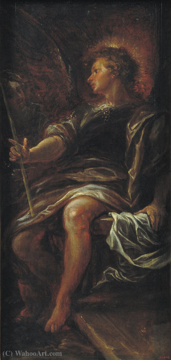 L Angelo di fronte la Tomba di Francisco Rizi (1608-1685, Spain)