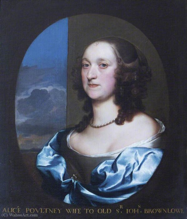 Alice Pulteney di Gerard Soest (1600-1681, Germany)