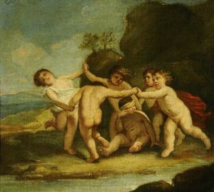 Jacopo Amigoni - Amorini at Play