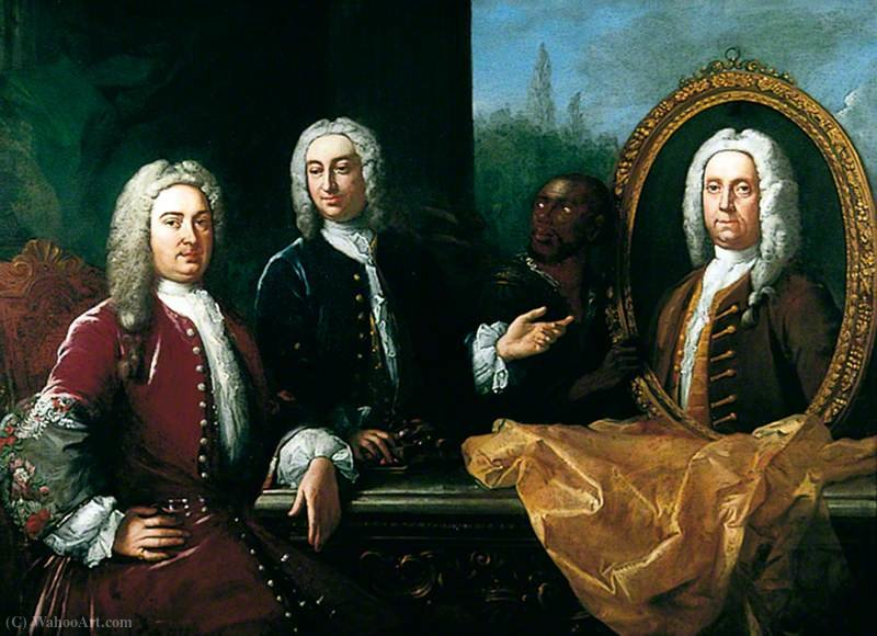James Howe, Benjamin Tilden e Richard John Thompson di Jacopo Amigoni (1682-1752, Italy)