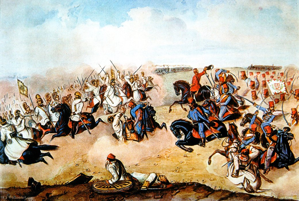 Komáromi Than Battaglia II di Mor Than (1828-1899, Serbia)