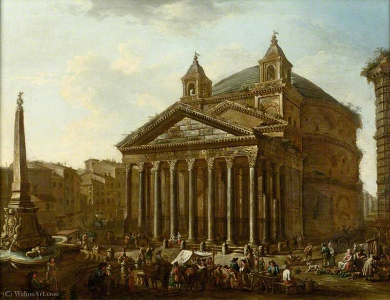 The Pantheon, Rome di Viviano Codazzi (1604-1670, Italy)