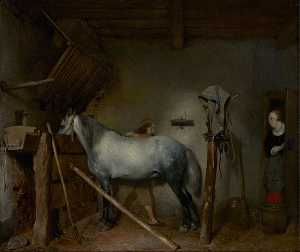 Gerard Ter Borch The Youn.. - Cavallo Stabile