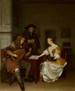 Gerard Ter Borch The Youn.. - Il Duet