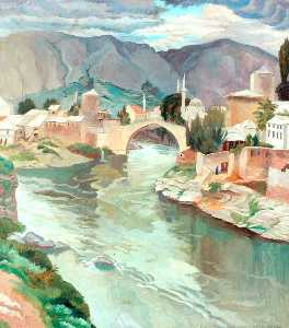 Sydney William Carline - Mostar , Erzegovina