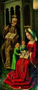 Master Of The View Of Saint Gudule - la famiglia di Zebedeo ( verso )