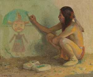 Eanger Irving Couse - Il Kachina Painter