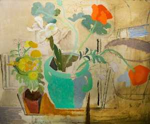Ivon Hitchens - papaveri come  Un  Verde ..
