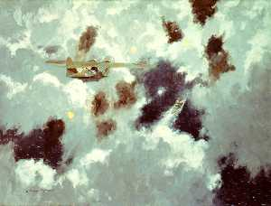 Norman Wilkinson - Un catalina flying boat A..