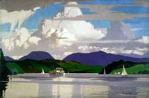 Norman Wilkinson - MV 'Swan' sul lago Winder..