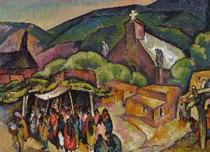William Penhallow Henderson - Festa Giorno san giovanni Pueblo