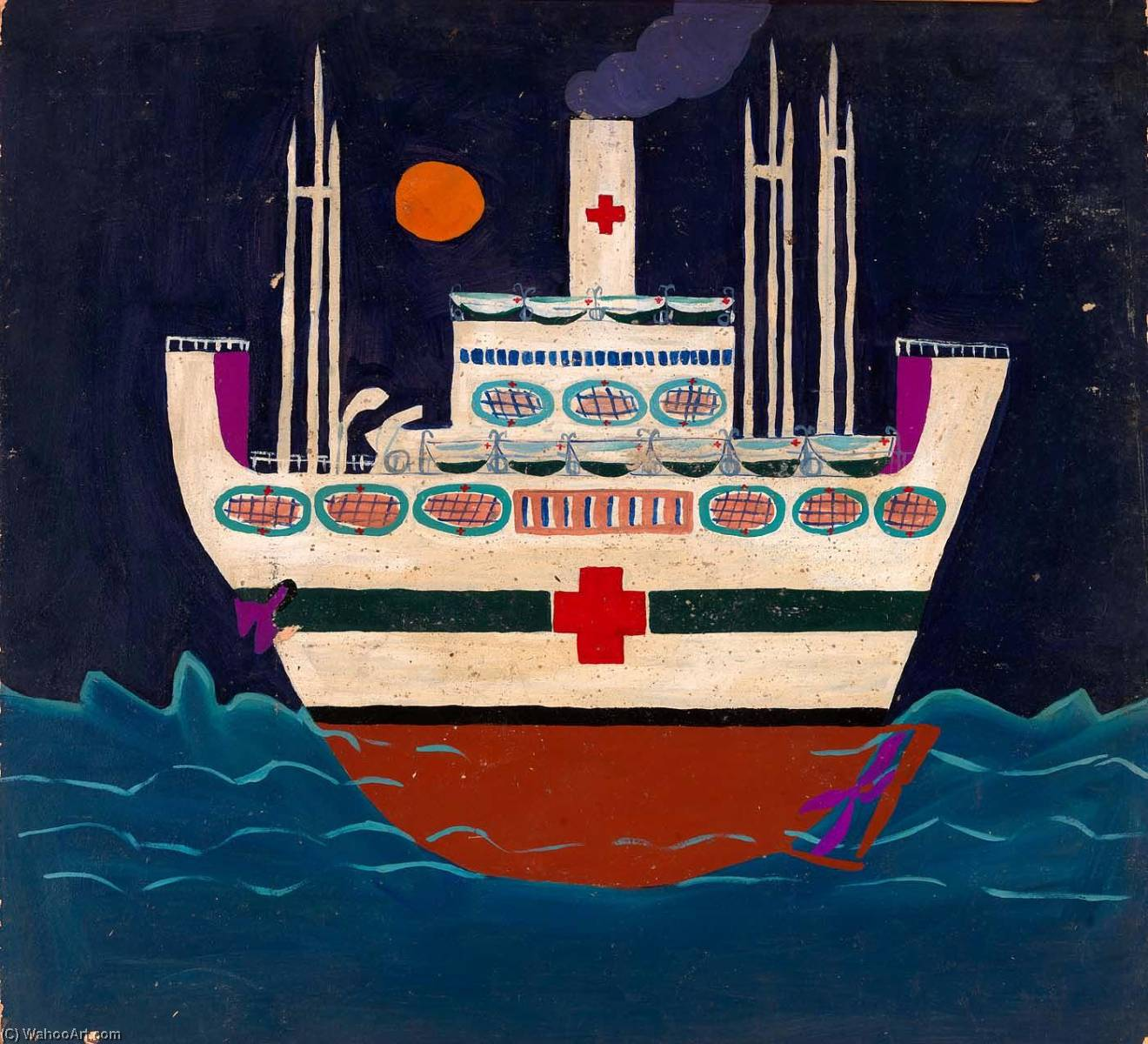 Mercyship, 1945 di William Henry Johnson (1901-1970, United States) | Stampe D'arte Su Tela | ArtsDot.com